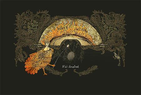 dieser scheue mittelalterlich anmutende, mytischer Feuervogel brät sich Marshmellows