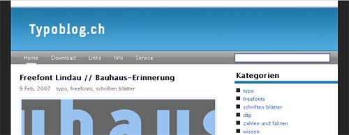Screenshot typoblog.ch