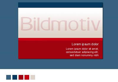 Klassische Einteilung eines Webdesigns