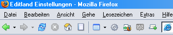 Editland-Admin im Firefox