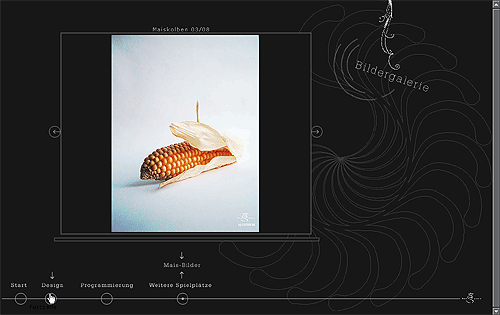 Website-Entwurf für eine Bildergalerie