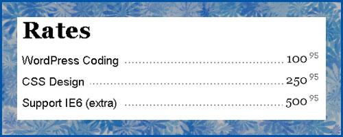 Liste im Buchindex-Layout (Illustration)